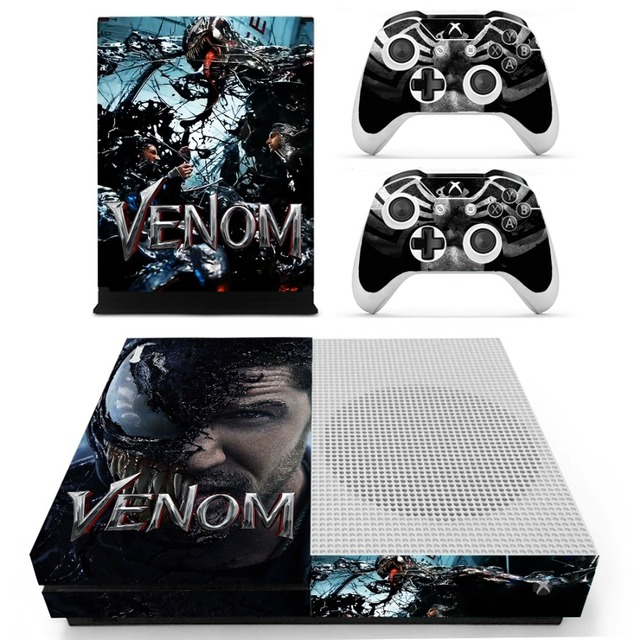 db9a252424c225 The Avengers Spiderman Venom Skin Sticker Decal For Xbox One S Console and  Controllers for Xbox One Slim Skin Stickers Vinyl