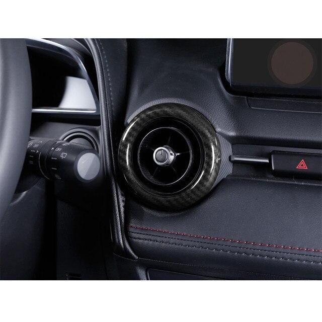 YAQUICKA Auto Air Condition Uscita Vent Decorazione Anello Car Trim Lunetta Adesivi Per Mazda CX-3 CX3 2016 2017 2018 ABS styling