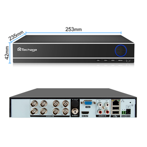 Image 2 - Techage H.264 4CH 8CH 1080P HDMI AHD CCTV DVR NVR HVR 1080N P2P ענן אבטחת וידאו דיגיטלי מקליט עבור אנלוגי AHD IP מצלמה