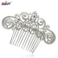 Vintage Rhinestone Crystals Hair Cpmbs Women Hair Jewelry Hairpins Bridal Wedding Accessories 2306R