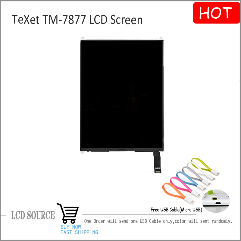 Original 7.85 For Texet TM-7877 LCD Display Panel Inner Screen Replacement Parts Free Shipping 1024x768 Resolution
