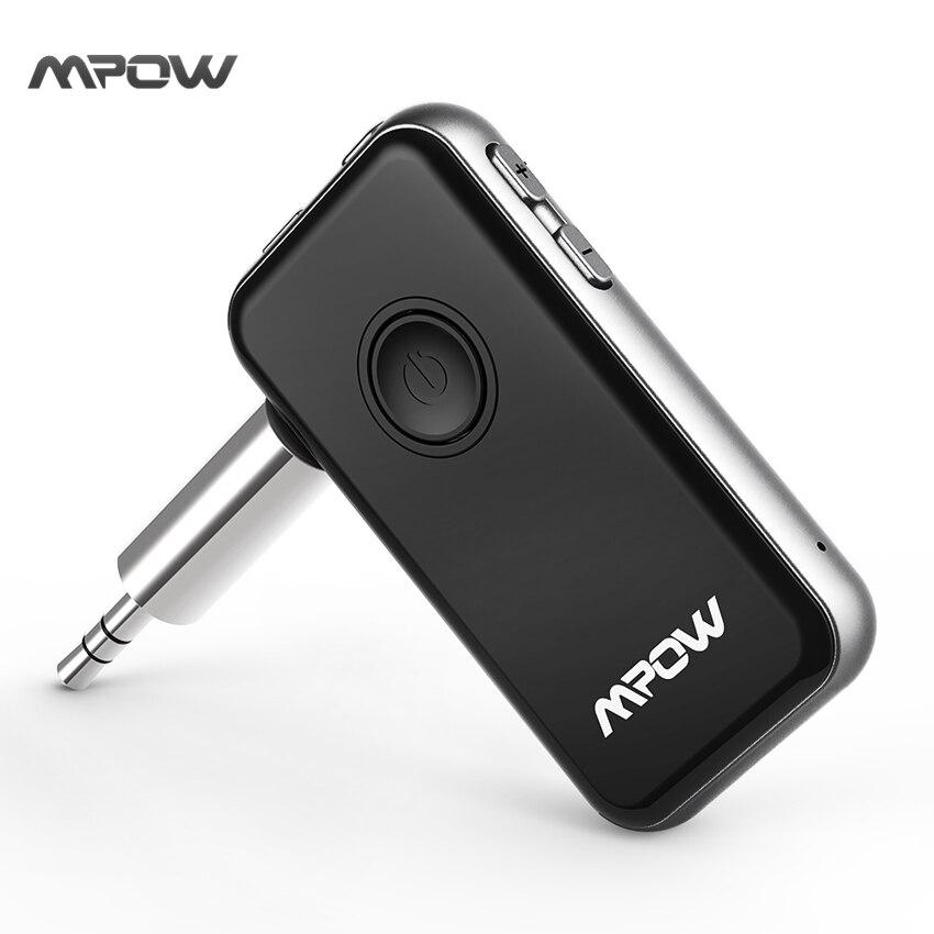 Mpow Bluetooth Sender & Empfänger 3,5mm Audio Kabel 2-in-1 Wireless Adapter für Kopfhörer Lautsprecher TV PC Auto Stereoanlagen MP3 MP4