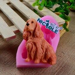 3D Labrador Chien Silicone Fondant Moule décorations pour gâteaux Outil Artisanat Résine Argile Fimo