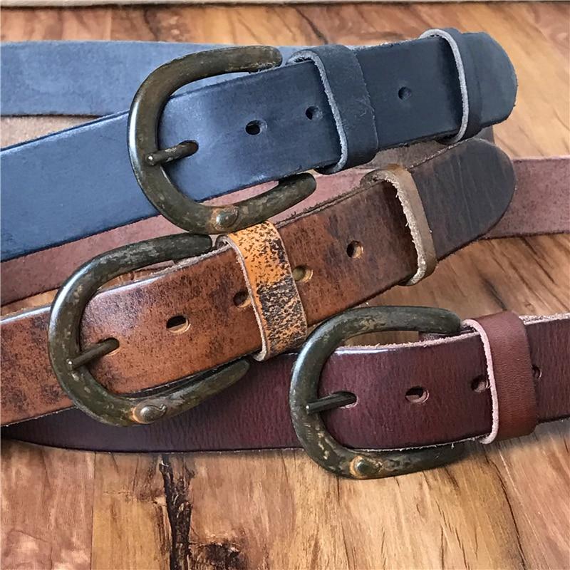 Cowboy Jeans Leather Belt Men Vintage Belt Buckle Genuine Leather Retro Men Belt Ceinture Homme Cinturone