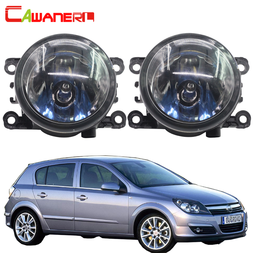 Cawanerl 2 Pieces H11 100W Car Light Halogen Lamp Fog Light DRL Daytime Running Lamp 12V Styling For Opel Astra G H 1998-2010 led front fog lights for opel astra h gtc hatchback 2005 2010 car styling round bumper drl daytime running driving fog lamps