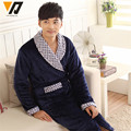 Winter Flannel Nightgown Man pajamas Plus Size Comfortable Warm Loose Tracksuit Thicken Coral velvet Mink Cashmere Bathrobes