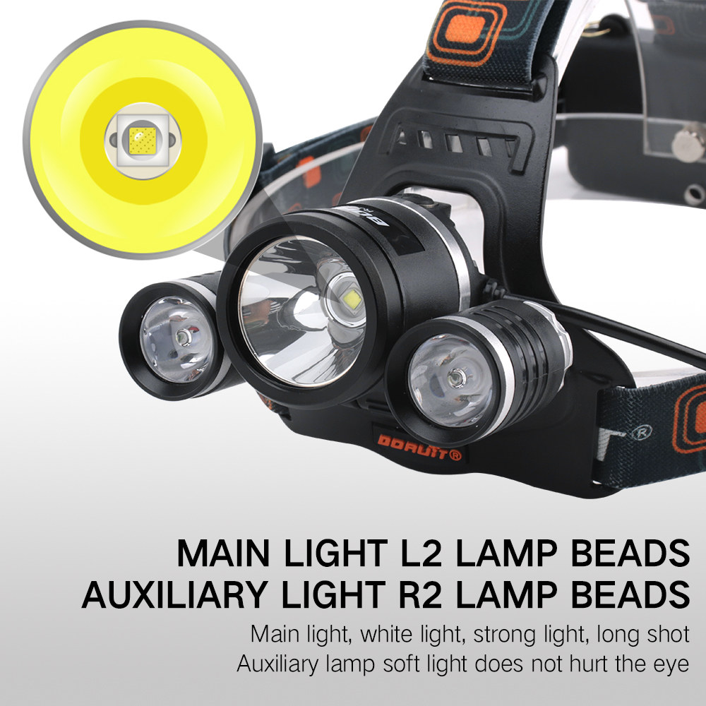 Headlamps L2 Led Headlamp Rechargeable Yellow Light White Light 18650 Head Lamp Head Torch Led Headlight Waterproof Fishing Hunting Light Convenient To Cook Lights & Lighting