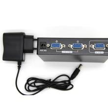 2 Port VGA 250 MHz Video HD sinyal amplifikatörü Booster Splitter Payı Kutusu 1920*1440 PC monitörü Projektör ABD Plug
