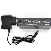 2 Port VGA 250MHz Video HD Signal Amplifier Booster Splitter Share Box 1920*1440 for PC Monitor Projector US Plug