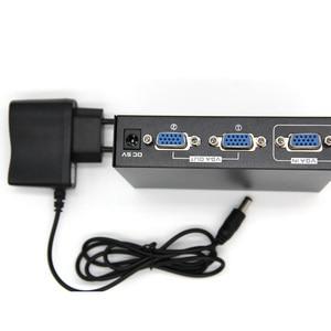 Image 1 - 2 พอร์ต VGA 250 MHz สัญญาณ Hd สัญญาณแอมพลิฟายเออร์ Booster Splitter Share กล่อง 1920*1440 สำหรับ PC Monitor Projector US Plug