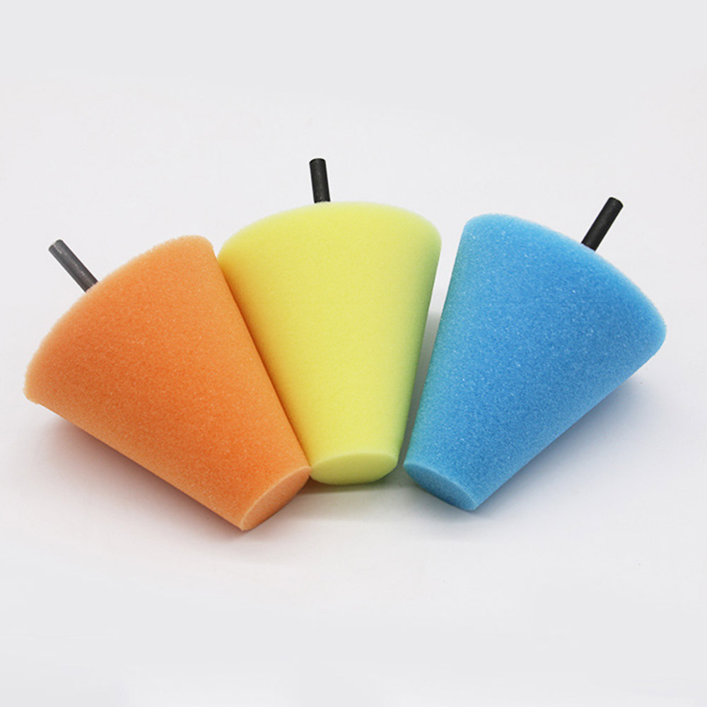 3 Inch Burnishing Foam Sponge Polishing Pad Car Polisher Tyres Wheel Wheel Hub Tool Polishing Machine Cone-shape Wheel Hubs Disk