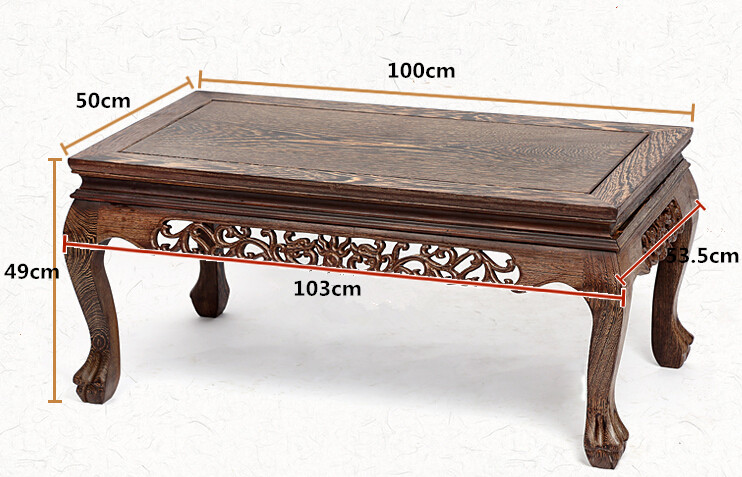 Asian Style Handmade Antique Tea Table RoseWood Rectangle 100cm Living Room Furniture Low Coffee Center