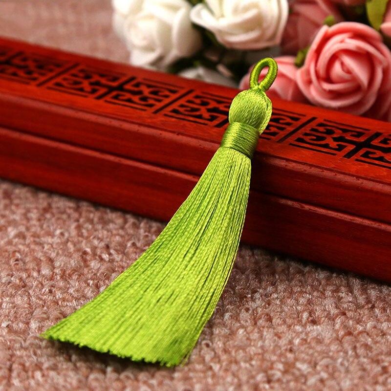 25 цветов, Новое поступление, высокое качество, горячая Распродажа, 1 шт., ручная работа, уникальные красивые шелковые кисточки, свадебные ювелирные аксессуары - Цвет: Light green