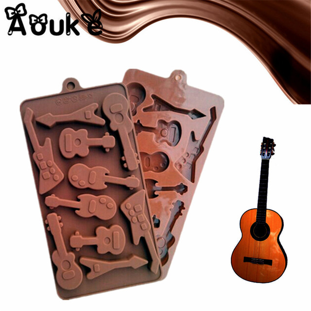 Bass Guitar Shape Silicone Chocolate Molds Jelly Pudding Ice Cube Cake Mold  Cake Decorating Accessories DIY