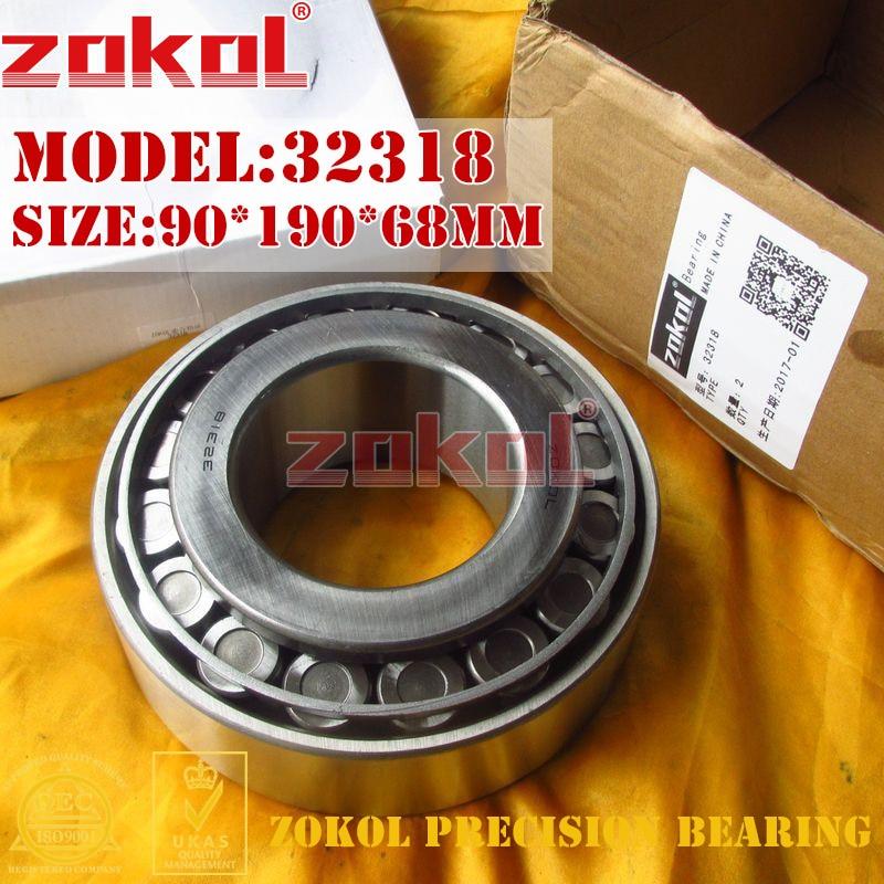 ZOKOL bearing 32318 7618E Tapered Roller Bearing 90*190*68mm zokol bearing 352218 97518e tapered roller bearing 90 160 95mm