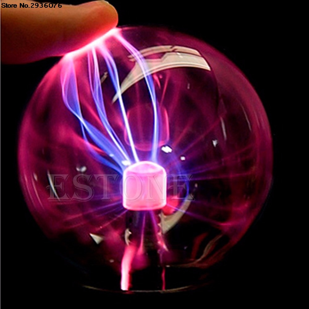 Plastic Luminaria Glass Plasma Ball Hot Magic USB Sphere Lightning Lamp Light Party Black Base Novidade Bedside Lamp ac powered plasma ball red light lightning sphere fish 210 250v eu plug