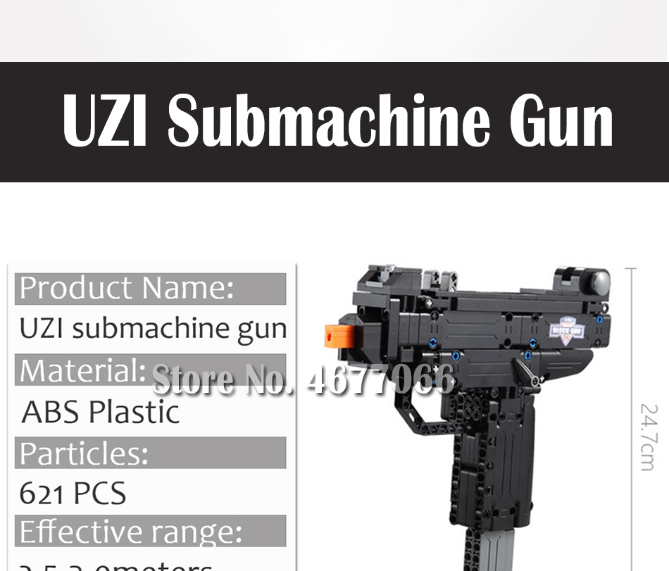 Legoed gun model building blocks p90 toy gun toy brick ak47 toy gun weapon legoed technic bricks lepin gun toys for boy 160