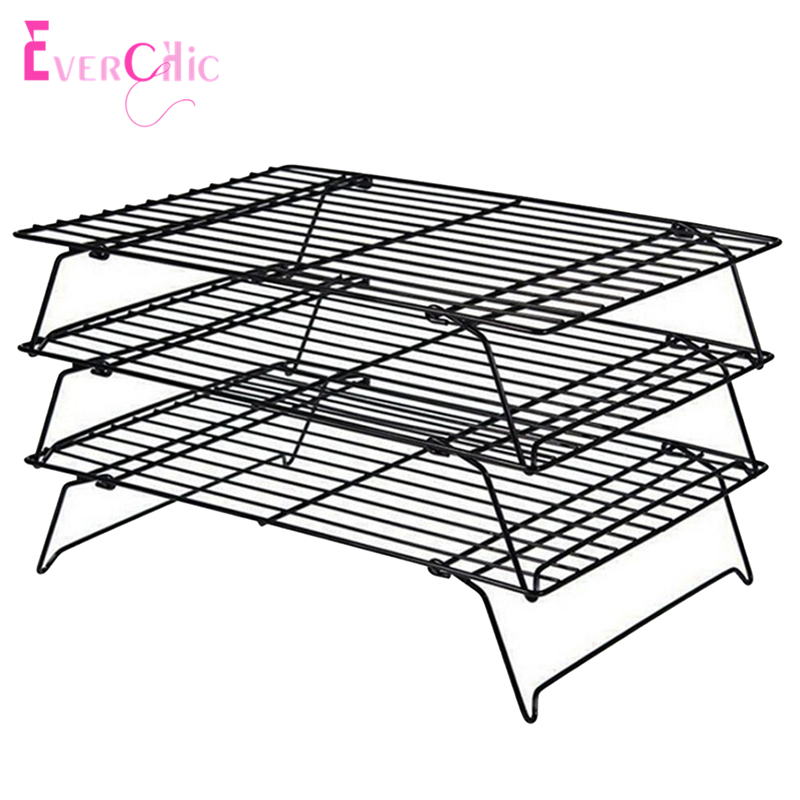 Stackable 3 Tier Stainless Steel Nonstick Cooling Rack Cooling Grid Baking Tray For Biscuit/Cookie/Pie/Bread/Cake Baking Rack