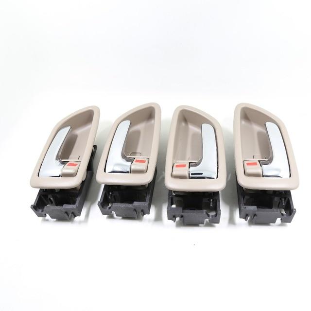4PCS ONE SET INTERIOR DOOR HANDLE FOR TOYOTA AVALON RH:69205-AC010 LH:69206-AC010 2