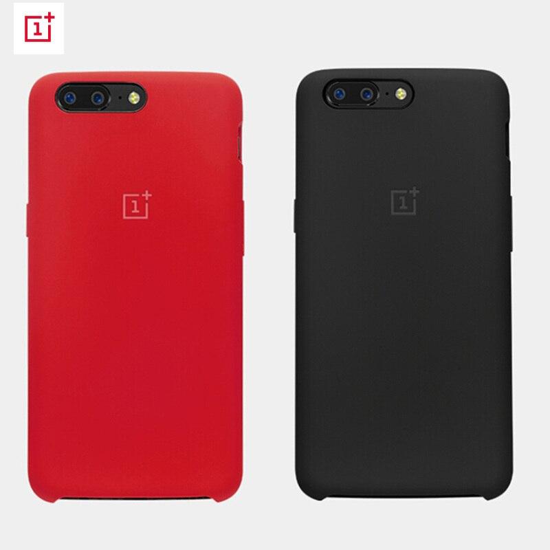 official photos 143fa a0de1 OnePlus 5 Red Case Cover Original Silicone Protective Case Official ...