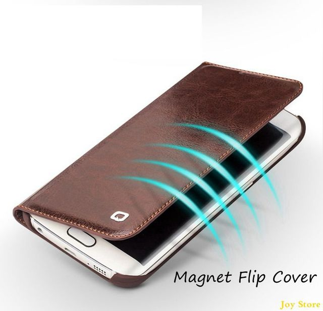 huge selection of 39fa6 57723 US $32.99 |For Samsung Galaxy S6 edge plus Original Qialino Genuine Leather  Business Flip Cover Case for S6 edge+ Luxury Phone Case on Aliexpress.com  ...