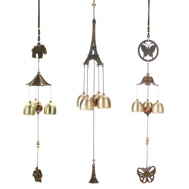 Hanging Wind Chime Bell Chinese Oriental Lucky Metal Paa Feng Shui Br Buddha Elephant Spitor Fortune Lijiang Style 3 Bells