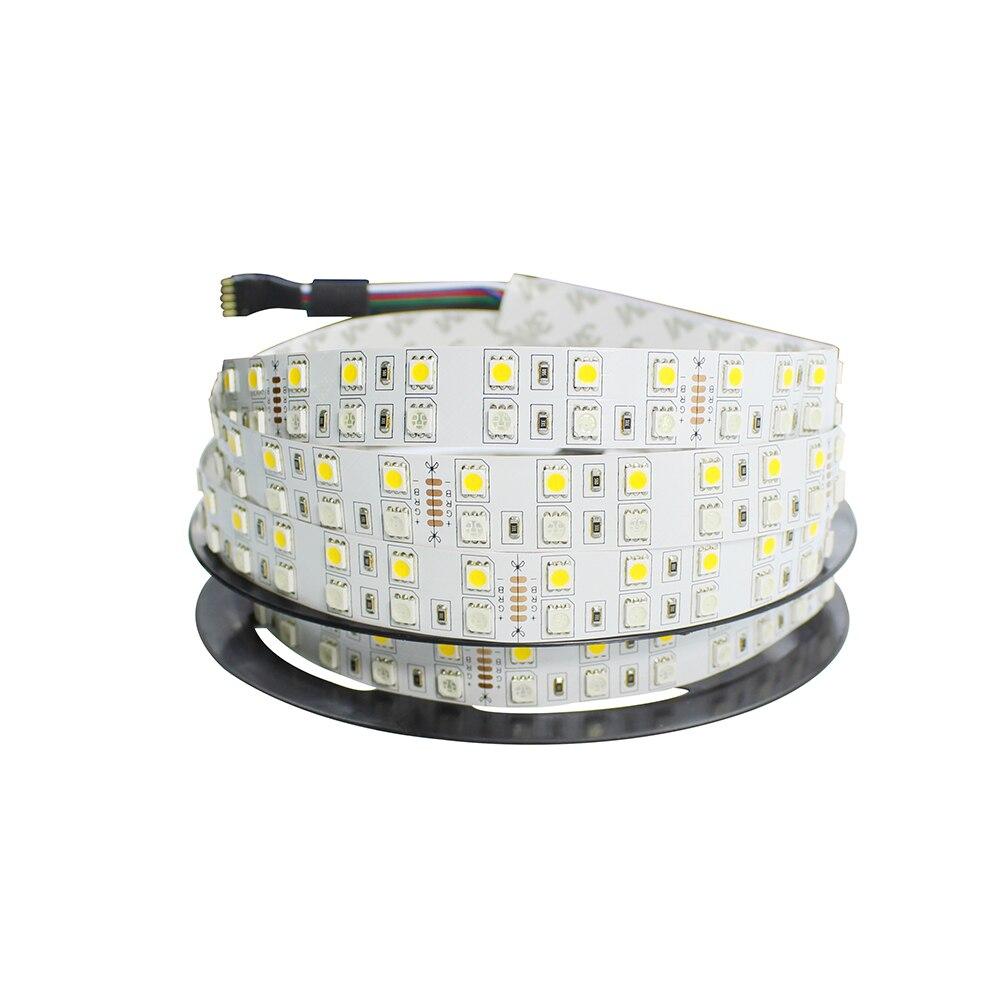 SMD 5050 Double Rangée RGBW/RGBWW Bande LED Lumière DC24V 120 LEDs/m 5 m/roll Flexible LED Ruban Bande