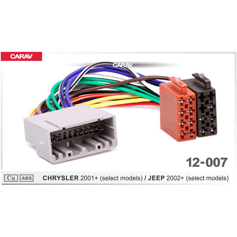 carav 12 007 iso radio wiring harness adaptor connector. Black Bedroom Furniture Sets. Home Design Ideas