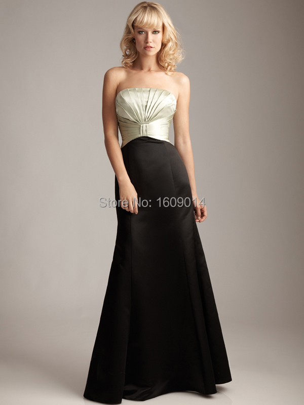 FREE SHIPPING BD 010 Fashion two tone black and champagne bridesmaid dress  two color-in Bridesmaid Dresses from Weddings   Events on Aliexpress.com ... fed641e95633