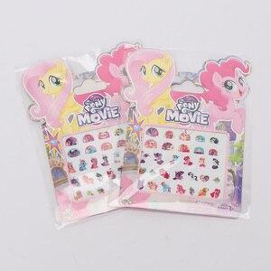 Image 5 - 5pcs/set My Little Pony Toys PVC Pony Stickers Pack Children Girl Nail Stickers 3D Rainbow Dash Twilight Sparkle Pinkie Pie