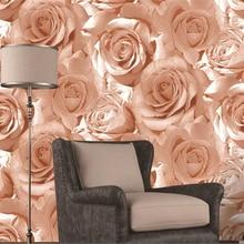 beibehang papel de parede Padded waterproof red rose backgro