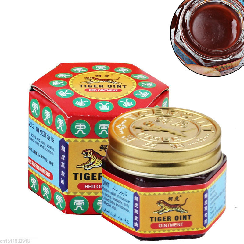 Yiganer Red White Tiger Balm Ointment For Headache Toothache Stomachache Painkiller Muscle Relieving Balm Dizziness Essential Ba