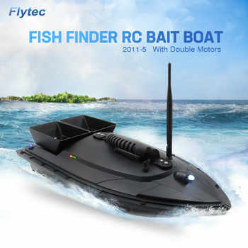 Flytec 2011-5 500M Bait Fishing Boat with Two Fish Finder 1.5kg Loading Tanks RC Boat Remote Radio Control Device Fish Toys - DISCOUNT ITEM  29% OFF All Category