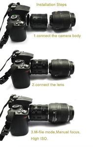 Image 2 - Metal Makro Uzatma Adaptörü Tüp Halka Nikon F montaj D3200 D3300 D3400 D5200 D5300 D5500 D90 D7500 D200 D300