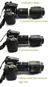 Image 2 - Metall Macro Extension Adapter Tube Ring für Nikon F mount D3200 D3300 D3400 D5200 D5300 D5500 D90 D7500 D200 D300