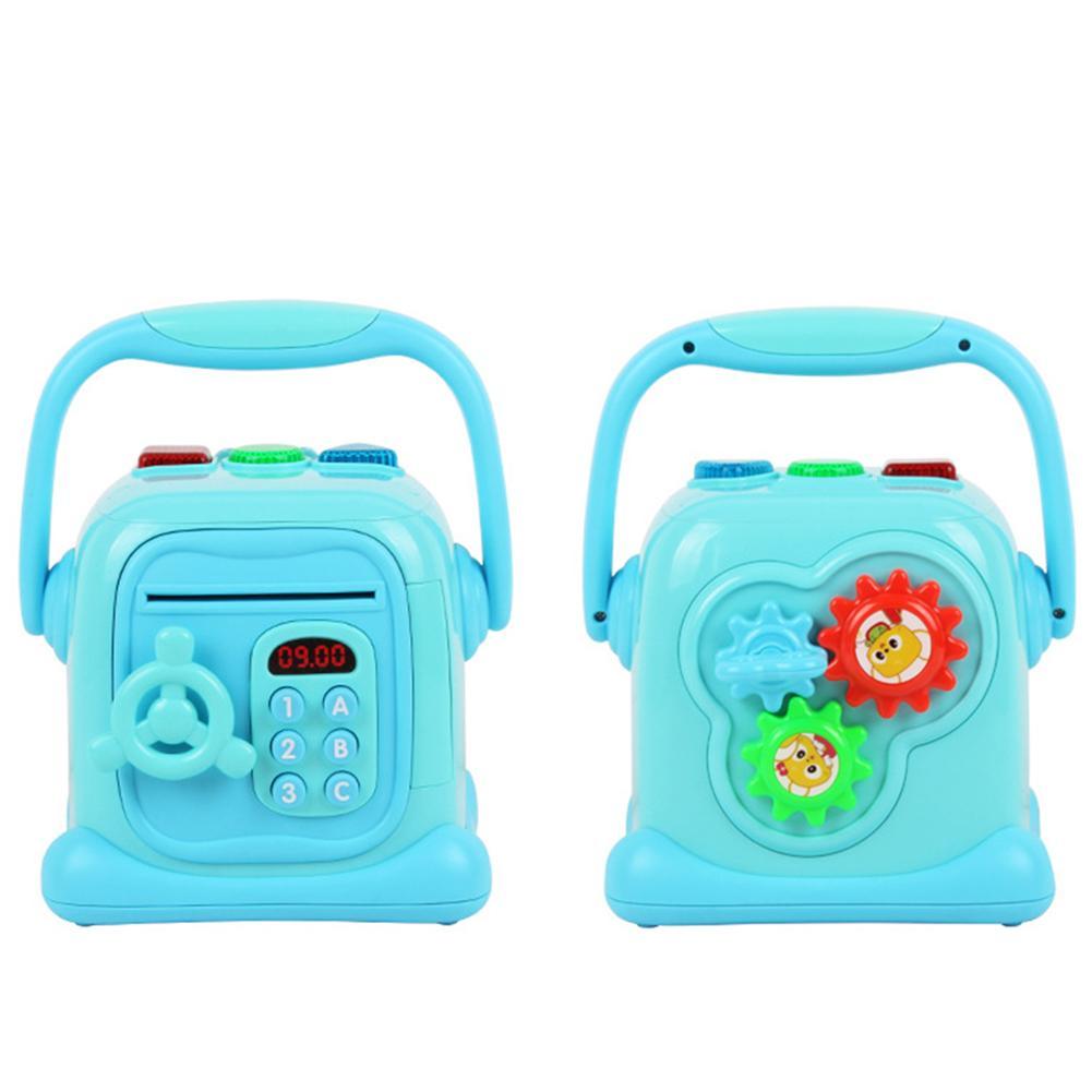 Induction déverrouillage boîte de rangement Simulation mot de passe automatique sûr ATM tirelire Portable jouet cadeau pour enfants économiser de l'argent