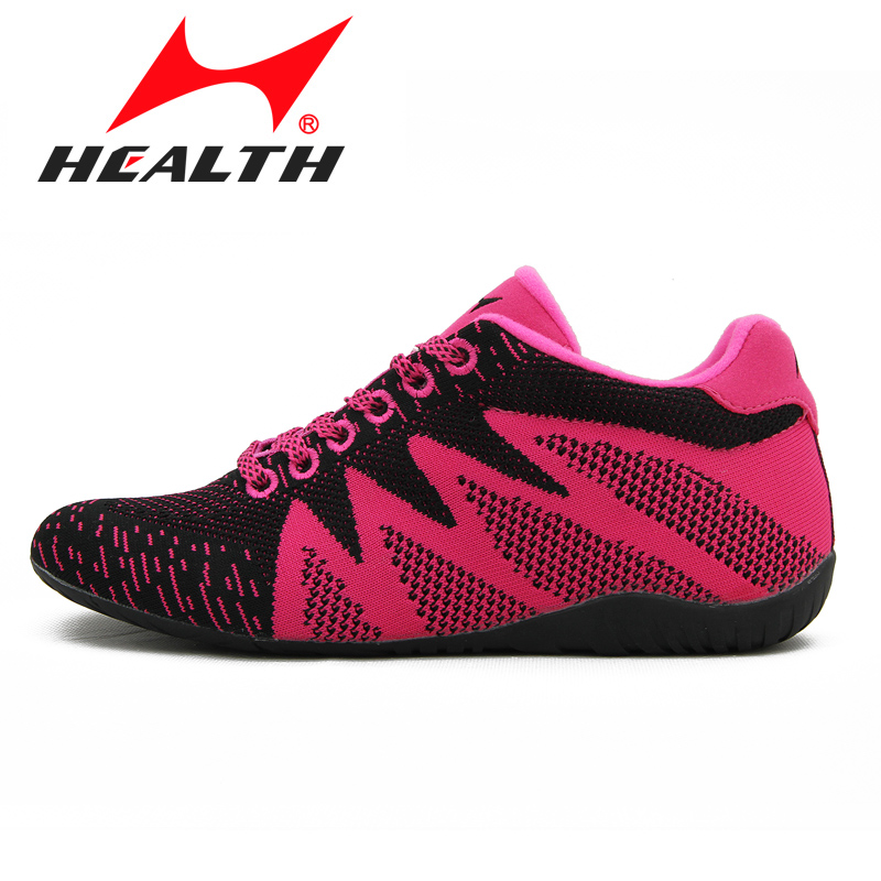 ФОТО HEALTH brand running shoes women shoes breathable sports sneakers knitted running shoes increased 5cm sport shoes