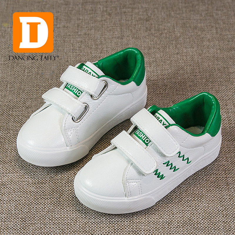 Brand 2017 Spring Fashion Kids Shoes New Casual Children Shoes 4 Color Boys Sports Sneakers Skate Board Pu Leather Girls Sneaker