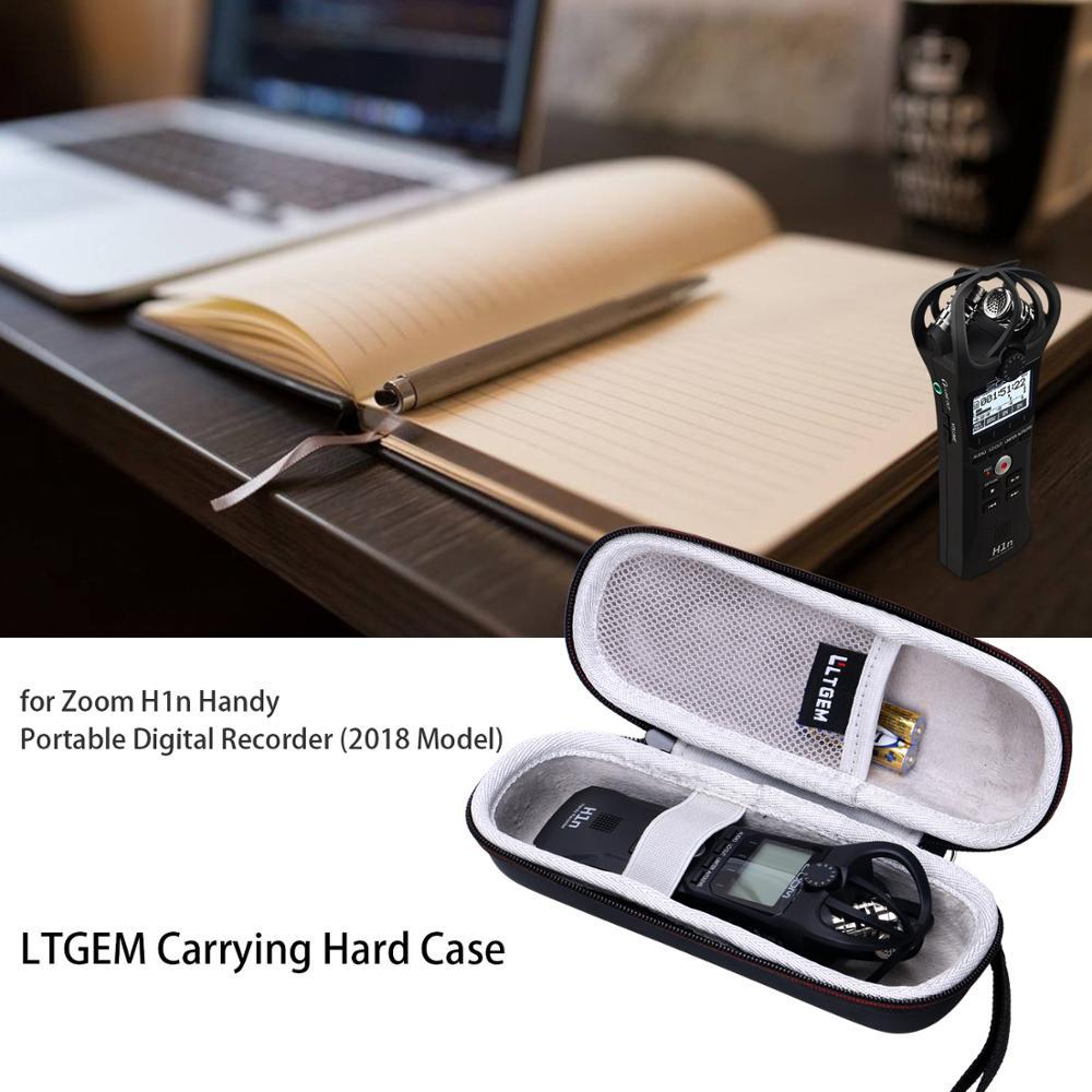 LTGEM EVA Hard Carrying Case For Zoom H1n Handy Portable Digital Recorder (2018 Model)