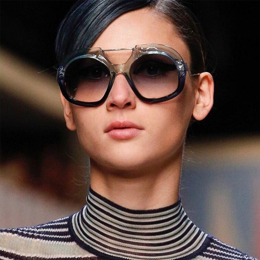 Übergroßen Brillen Rahmen Polygon Sonnenbrille Frauen Marke Designer ...
