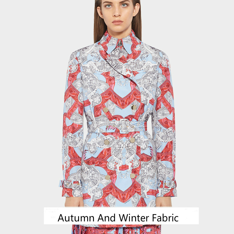 New autumn and winter coat printing fabric handmade DIY digital fashion printed cloth 145cm wide custom