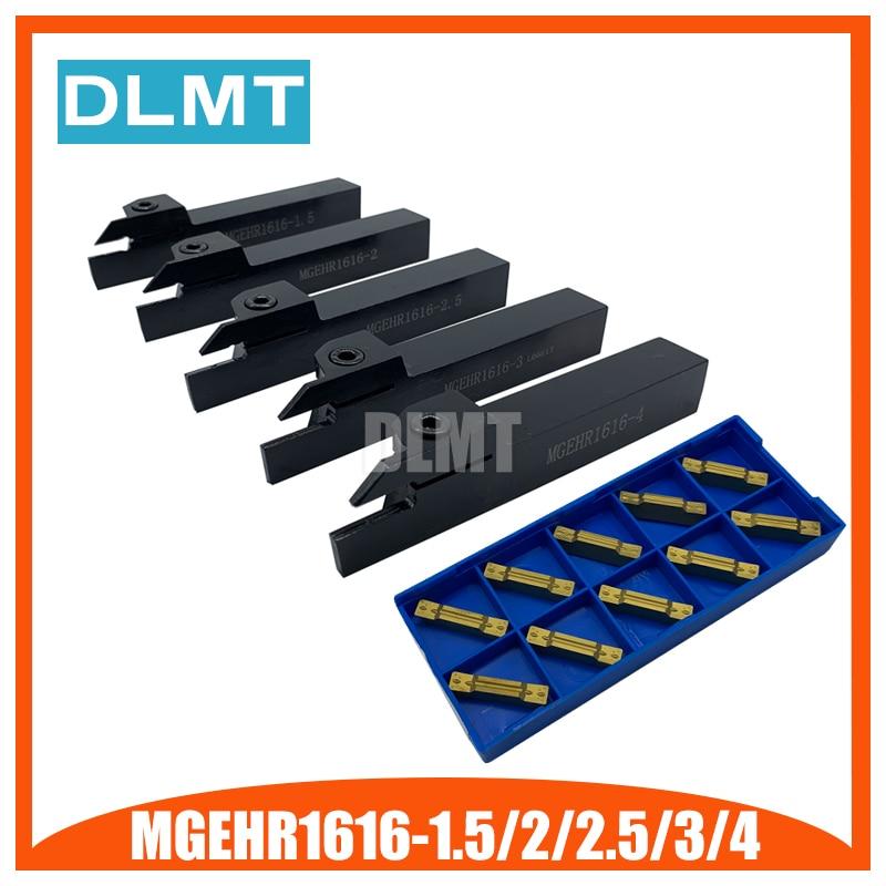 MGEHR1616-1.5 MGEHR1616-2 MGEHR1616-2.5 MGEHR1616-3 MGEHR1616-4 Tool Holder Set External Grooving Turning Lathe Bar