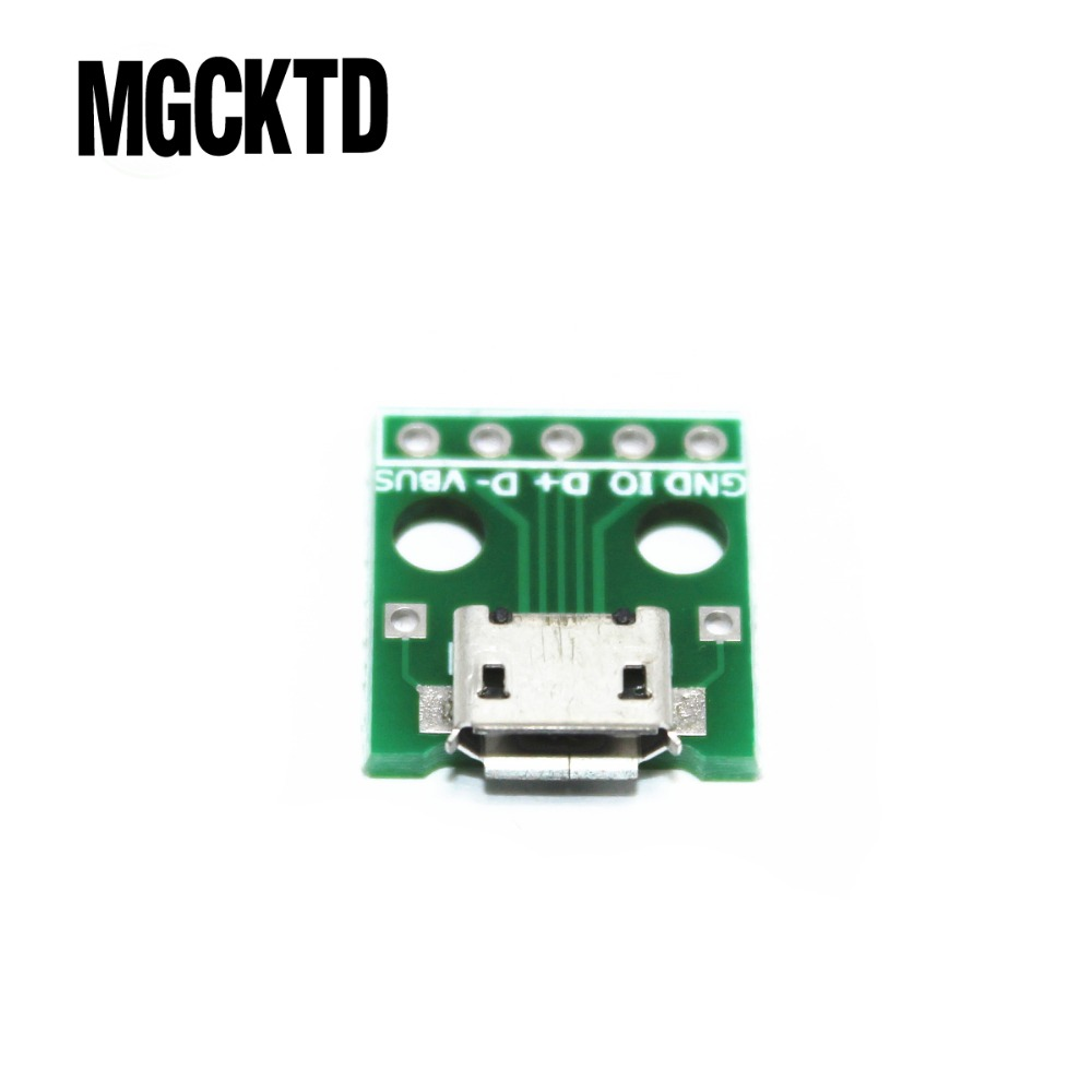 New 10pcs MICRO USB To DIP Adapter 5pin Female Connector B Type Pcb Converter