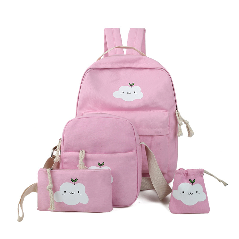 2017 New Design Fashion Kids Backpack Clouds Schoolbags Shoulder Bag casual crossbody phone set bags coin holder string bag