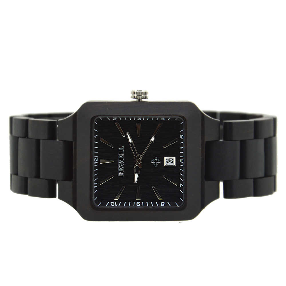 BEWELL Luxury Brand Wood Watch Men Analog Natural Quartz Movement Date Male Wristwatches Clock Relogio Masculino 110A