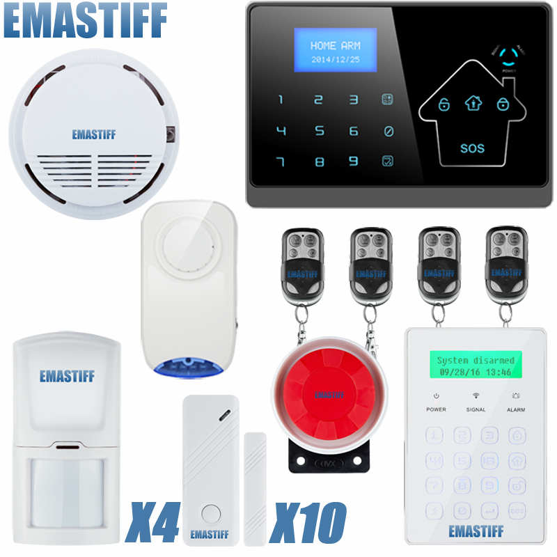 Android IOS Touch Screen Keypad+LCD TFT display Wireless GSM PSTN SMS Home/house Security Burglar Voice Smart Alarm System