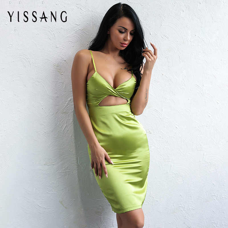 f2375a64f71a Yissang Women Full Sexy Midi Dresses Cut Out Womens Elegant Party Evening  Special Occasion Sheath Fitted