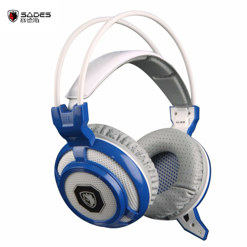 все цены на  SADES SA-905 USB Wired Gaming headphones LED shock fone de ouvido with microphone with Sound card game headphone headset gamer  онлайн