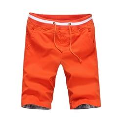 2020 novo estilo de verão dos homens algodão calções casuais sólidos na altura do joelho shorts bermuda praia abz392
