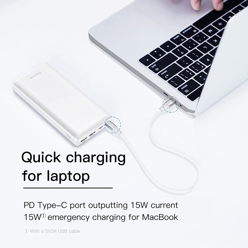 Baseus 30000mah Big Capacity Powerbank For Mobile External Battery Phone Quick Charger 3.0 Type C Power bank For iPhone Samsung 5